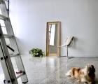 Alice Alt-Gold Echtholz-Wandspiegel