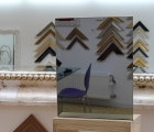 Rahmenloser Spiegel - Grau - Eckabschnitt