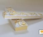 Arte Weiß & Gold Echtholz - Bilderrahmen
