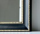 Collare Schwarz und Gold Echtholz-Wandspiegel