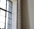 Aka Alt-Silber Echtholz-Wandspiegel