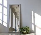 Bene Weiß Echtholz-Wandspiegel