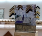Rahmenloser Spiegel - Antik - Dreieck