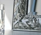 Balto Silber Echtholz-Wandspiegel