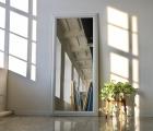 Amur Weiß Echtholz-Wandspiegel