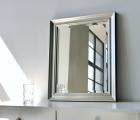 Elegante Silber Echtholz-Wandspiegel