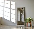 Collare Weiß und Gold Echtholz-Wandspiegel
