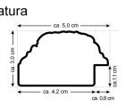 Natura Braun Echtholz-Wandspiegel
