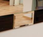 Rocky Schwarz-Kristall Designspiegel