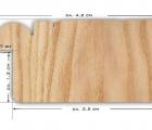 Rusticale Weiss Schmal Musterleiste