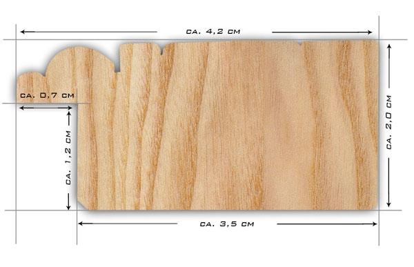 Rusticale weiss schmal musterleiste for Standspiegel schmal