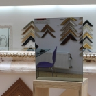 Rahmenloser Spiegel - Grau