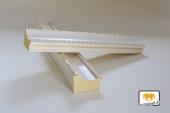 Collare Weiß-Gold Musterleiste